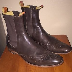 Ted Baker London Brown Boots Brogue detail Sz 10